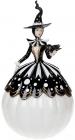 """Фігура декоративна """"Чарівниця"""" з LED підсвічуванням 25.3х25х45.5см, чорно-білий"""