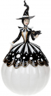 "Фигура декоративная ""Волшебница"" с LED подсветкой 25.3х25х45.5см, черно-белый"