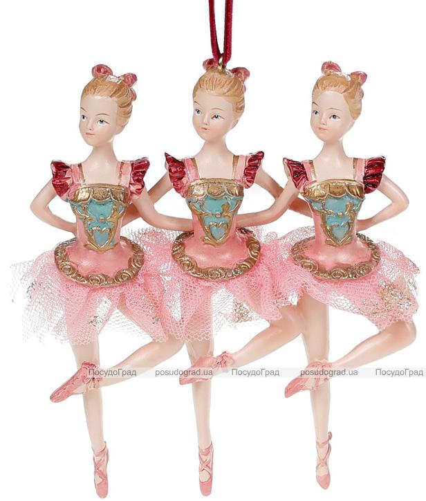 """Декоративна підвіска """"Тріо Балерин"""" 11х2.7х13.4см, бордо з бірюзою"""