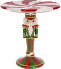 """Підставка для торта """"Лускунчик"""" 27.5см, кераміка, червоно-зелена"""