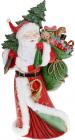 """Декоративна статуетка """"Санта з мішком Подарунків"""" 52.5см, полистоун, червоний"""