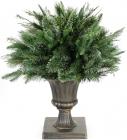 Новогодний декор из искусственной хвои в вазоне 50см, 200 веток