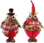 """Новогодняя мягкая игрушка """"Нарядная сова"""" 60см"""