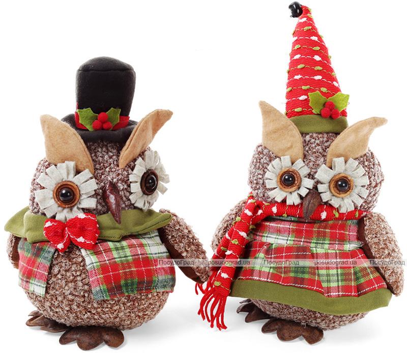 """Новогодняя мягкая игрушка """"Нарядная сова"""" 30см"""