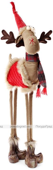 """Новогодняя мягкая игрушка """"Олень в красной шубке"""" 70см"""