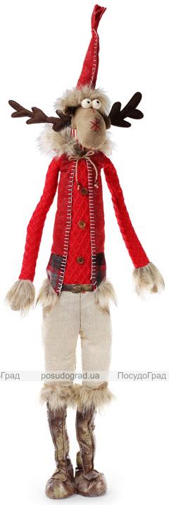 """Новогодняя мягкая игрушка """"Олень в костюме"""" 100см"""