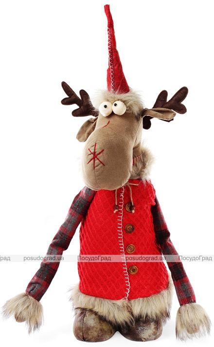 """Новогодняя мягкая игрушка """"Олень в костюме"""" 112см"""