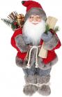 Фігура «Санта з лижами» 41см (м'яка іграшка), червоний