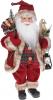 """Мягкая игрушка """"Санта с мешком и фонарем"""" 41см, красный"""