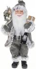 Фігура «Санта з ліхтариком» 41см (м'яка іграшка), сірий