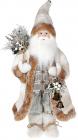 Фигура «Санта с колокольчиками» 46см (мягкая игрушка), белый крем