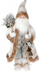 Фігура «Санта з дзвіночками» 46см (м'яка іграшка), білий крем