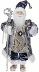Фігура «Санта з посохом» 60см (м'яка іграшка), сіро-блакитний