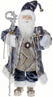 Фигура «Санта с посохом» 60см (мягкая игрушка), серо-голубой