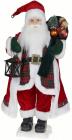 Фігура «Танцюючий Санта з ліхтариком» 71см (м'яка іграшка), червоний з білим