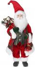 Фигура «Санта с игрушкой» 46см (мягкая игрушка), красный с зеленым