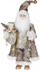 Фигура «Санта с фонариком» 46см (мягкая игрушка), бежевый
