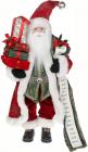 Фигура «Санта со списком» 46см (мягкая игрушка), красный с зеленым