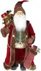 Фигура «Санта с носком» 60см (мягкая игрушка), бордо с коричневым