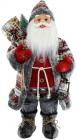 Фигура «Санта с фонариком» 60см (мягкая игрушка), красный с серым