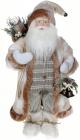 Фігура «Санта з дзвіночками» 60см (м'яка іграшка), білий крем