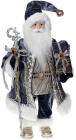 Фігура «Санта з посохом» 46см (м'яка іграшка), сіро-блакитний