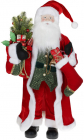 Фігура «Санта з носком» 90см (м'яка іграшка), червоний