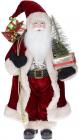 Фигура «Санта с елочкой» 60см (мягкая игрушка), с LED подсветкой, бордо