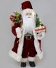 Фигура «Санта с елочкой» 46см (мягкая игрушка), с LED подсветкой, бордо
