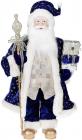 Фігура «Санта з посохом» 60см (м'яка іграшка), синій з шампанню