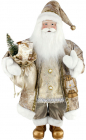 Фигура «Санта с фонариком» 60см (мягкая игрушка), бежевый
