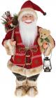 """М'яка іграшка """"Санта з мішком, ліхтарем та Ведмедиком"""" 46см, червоний"""