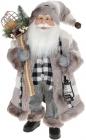 """Мягкая игрушка """"Санта с мешком и фонарем"""" 46см, серый"""
