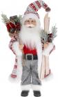 """Мягкая игрушка """"Санта с мешком и лыжами"""" 46см, пестрый"""