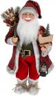 """Мягкая игрушка """"Санта с мешком, елочкой и фонарем"""" 46см, красный"""