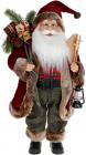 """Мягкая игрушка """"Санта с подарками и фонарем"""" 46см, красный"""