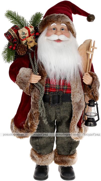 """М'яка іграшка """"Санта з подарунками та ліхтарем"""" 46см, червоний"""