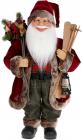 """Мягкая игрушка """"Санта с подарками, лыжами и фонарем"""" 60см, красный"""