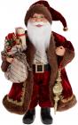 """Мягкая игрушка """"Санта с посохом и мешком"""" 40см, красный"""