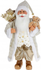 """Мягкая игрушка """"Санта с подарками и Мишкой"""" 60см, шампань"""
