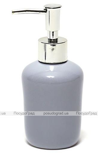Дозатор (диспенсер) Bright Bathroom Ø7х15.3см для жидкого мыла, серый