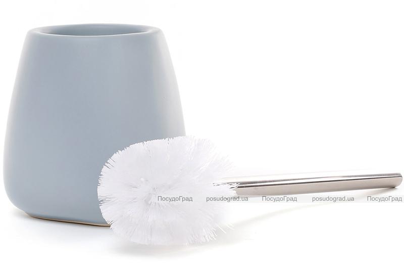 """Ершик для туалета с керамической подставкой """"Blue"""" 35см"""