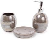 Набор аксессуаров Bright для ванной комнаты 3 предмета, хаки, керамика