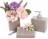 Набор аксессуаров Bright для ванной комнаты 3 предмета, коричневый, керамика
