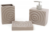 Набір аксесуарів Bright для ванної кімнати 3 предмета, коричневий, кераміка