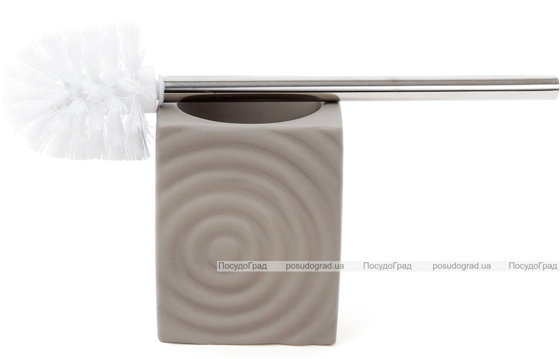 """Ершик для туалета с керамической подставкой """"Bright"""" 35см, коричневый"""