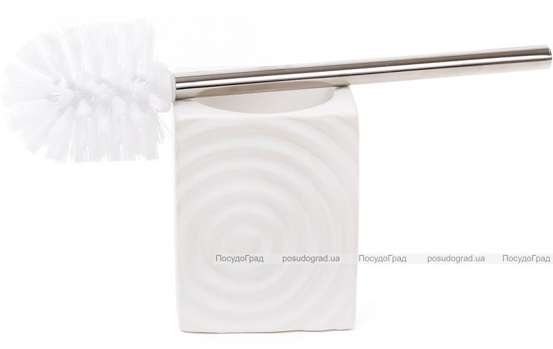 """Ершик для туалета с керамической подставкой """"Bright"""" 35см, белый"""