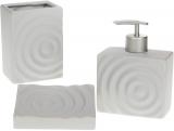 Набор аксессуаров Bright Круги для ванной комнаты 3 предмета, серый, керамика