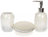 Набор аксессуаров Bright Омбре для ванной комнаты 3 предмета, стальной с белым