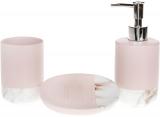 Набір аксесуарів Bright Pink для ванної кімнати 3 предмети